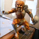 Qenex starts to repair the statue - Painting Pic 2 - A few base coats applied