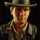 Indiana Jones bust sculpted and painted by Jeff Camper - Photography by Dan Richard - Pic 1