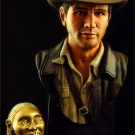 Indiana Jones bust sculpted and painted by Jeff Camper - Photography by Dan Richard - Pic 2