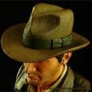 Indiana Jones bust sculpted and painted by Jeff Camper - Photography by Dan Richard - Pic 3