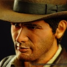 Indiana Jones bust sculpted and painted by Jeff Camper - Photography by Dan Richard - Pic 5