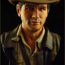 Indiana Jones bust sculpted and painted by Jeff Camper - Photography by Dan Richard - Pic 7